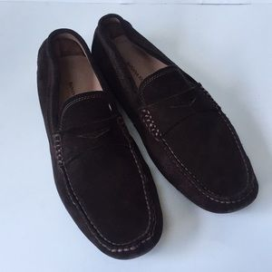 Banana Republic brown suede driving moccasins 10